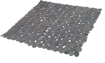 Tappetino antiscivolo da doccia grigio Frandis 195130 195134 52 x 52 cm in PVC