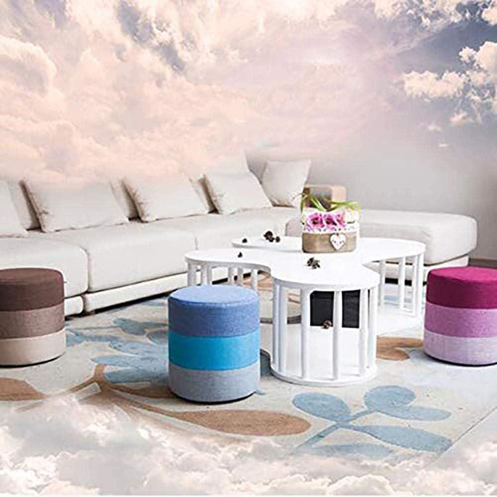 WZDD Tabouret Pouf Chambre,Rond Repose-Pieds, Tabouret Rembourre Bois Et Tissu, Chaise pour Salon, Chambre 35 X 31cm Gray
