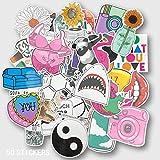 BLOUR Pink Kawaii Cute Girl Stickers Sets Cartoon Anime Sticker para Laptop Nevera Teléfono Guitarra Super Hero Stickers Pack 50pcs