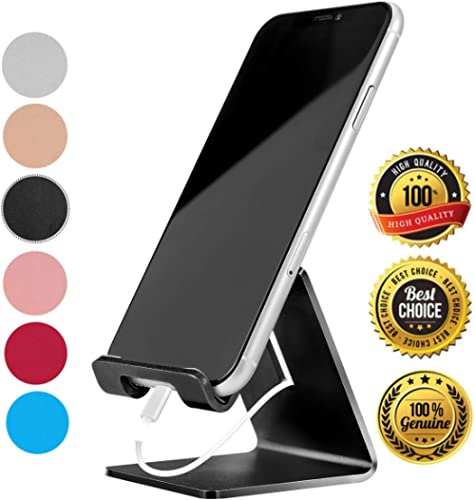 Desk Cell Phone Stand Holder Aluminum Phone Dock Cradle Compatible with Switch, All Android Smartphone, for iPhone 11...