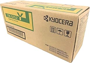 Kyocera 1T02NSAUS0 Model TK-5152Y Yellow Toner Kit For use with Kyocera ECOSYS P6035cdn, ECOSYS M6035cidn and M6535cidn Color Network Printers; Up to 10000 Pages Yield at 5% Average Coverage