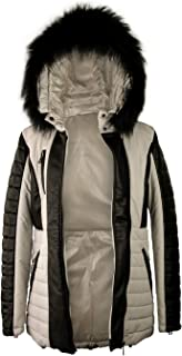 Zerimar Abrigo Piel Mujer | Chaqueta Cuero Mujer | Abrigo de Pelo | Abrigo Cuello Zorro | Chaqueta Piel Larga Mujer | Abri...