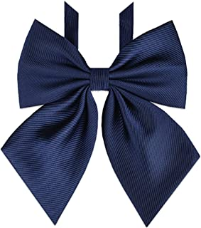 Women's Bowtie Japan School Uniform Adjustable Necktie Pre-tied Bow Tie PTK04