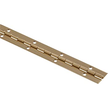 2 or 6 Lengths Nickel or Brass Plated 1 1//16 Continuous Hinge//Piano Hinge Nickel Plated, 6 FT 3 4