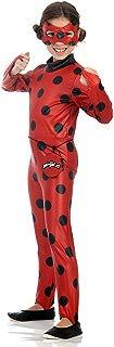 Ladybug Macacão Longo Infantil 35402-P Sulamericana Fantasias Vermelho/Preto P 3/4 Anos