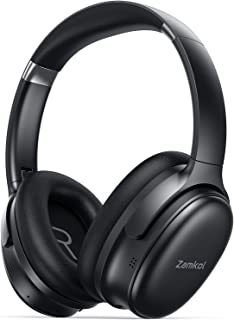 Hybrid Active Noise Cancelling Headphones, Zamkol ZH700 Over Ear Wireless Bluetooth Headphones with CVC 8.0 HD Mic, 30H Pl...