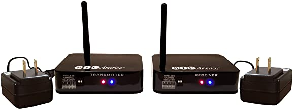 BIC America WTR-Sys Wireless Transmitter/Receiver Kit for Hookup of Wireless Subwoofers and Wireless Powered Speakers, 8.30in. x 8.30in. x 2.20in.