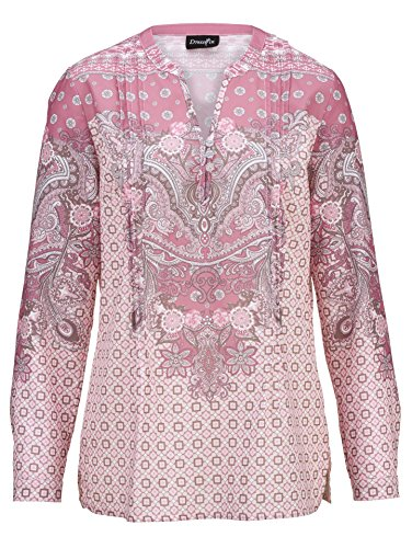 Tuniek blouse dames in roze