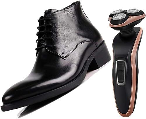 botas De Cuero De Hombre Derby Medianas Puntiagudas Caballero Transpirable marrón negro Fiesta Adulto