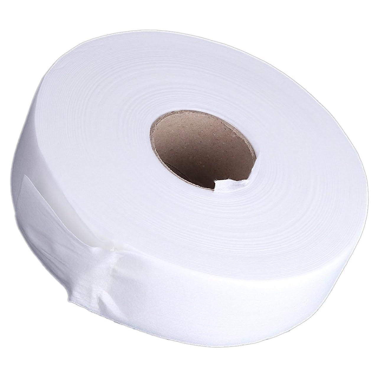 気取らない肥沃な広いGaoominy 100ヤードの脱毛紙脱毛ワックスストリップ 不織布ペーパーワックスロール(白)