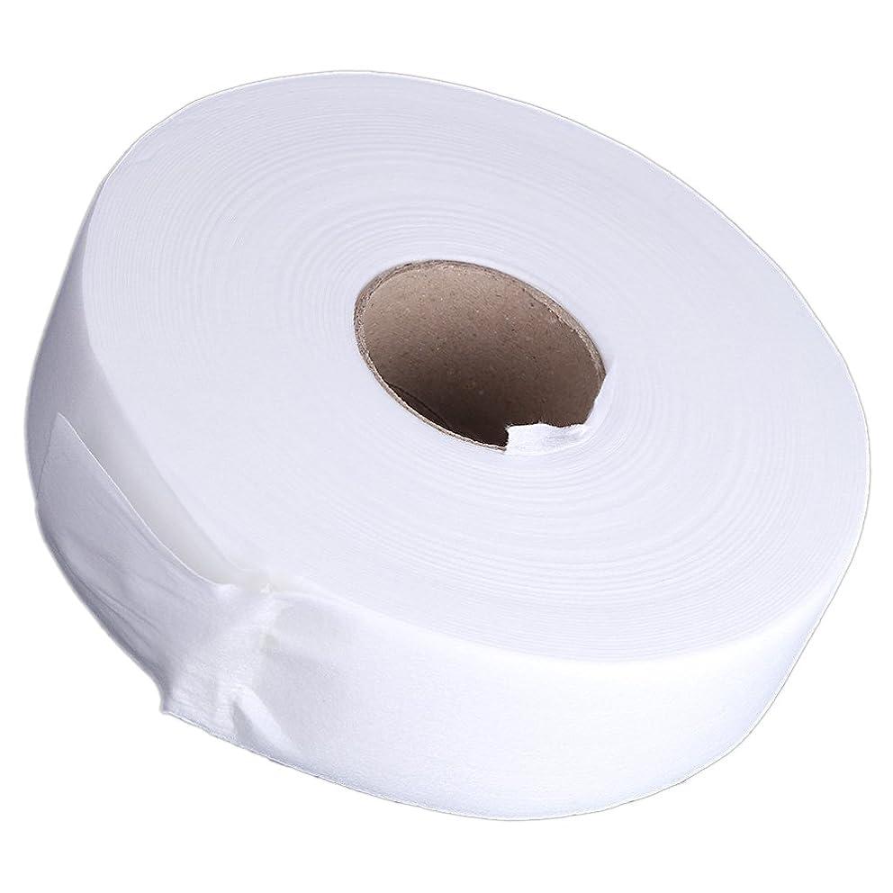 ボード浴室スコアGaoominy 100ヤードの脱毛紙脱毛ワックスストリップ 不織布ペーパーワックスロール(白)