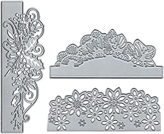 DIY Cutting Dies Wedding Invitation Flowers Butterflies Border Embossing Stencil Template for Scrapbooking Embossing Paper Card Decor 3D Scrapbooking Cards Pop-up Dies