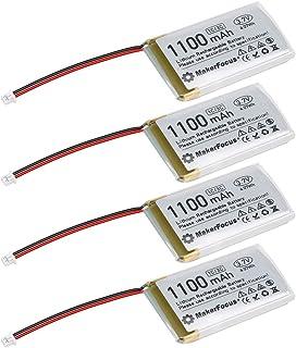 4 Stück 3,7V 1100mAh Lithium Akku 1S 3C Lipo Akku mit Schutzplatine, Isolierband und Micro JST 1.25-Stecker für Arduino Nodemcu ESP32-Entwicklungsplatine