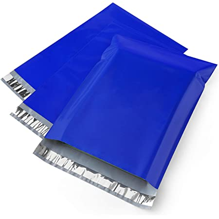 Metronic Poly Mailers 14.5x19 100 Pcs Shipping Bags for Clothing Envelope Mailers with Strong Self-sealing Adhesive Waterproof and Tear-Proof Postal Bags in Chassic Blue