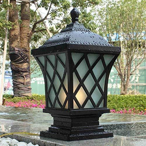 IP54 wasserdichte quadratische Säule im Freien Säulenlampe Außenhof Innenhof Aluminiumglas Poller Post Laternen Traditioneller Patio Gartenpark Villa Balkon Stigma Licht E27