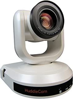 HuddleCamHD 10X-G3 2.1 MP 1080p PTZ Camera, 10x Optical Zoom, 30 fps, White