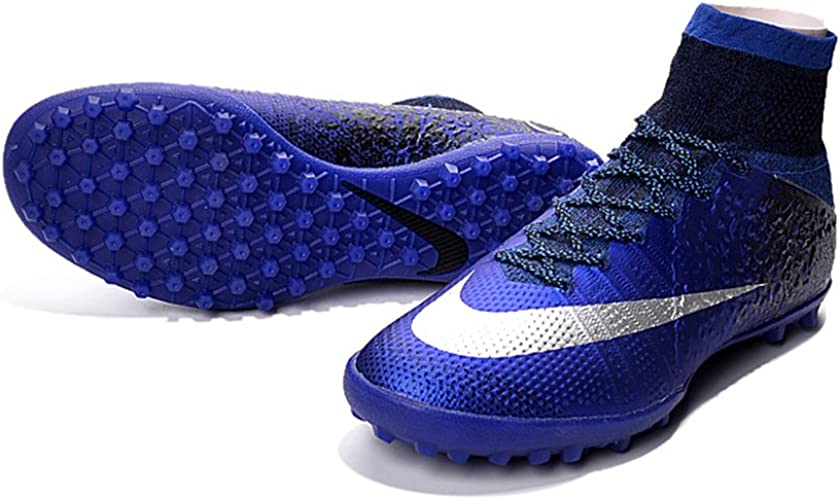 Demonry Homme Chaussures Mercurial Superfly CR7TF Bleu roi Football Bottes