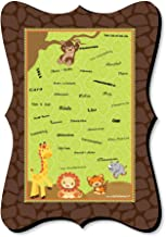 Big Dot of Happiness Funfari - Fun Safari Jungle - Unique Alternative Guest Book - Baby Shower or Birthday Party Signature Mat