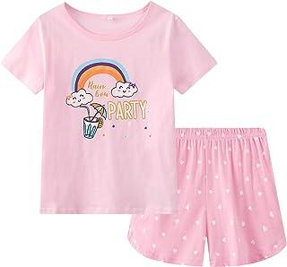 مجموعة بيجامات صيفية لطيفة للفتيات الكبيرات من القطن الناعم الناعم على شكل أرنب وردي ملابس نوم مجموعة مقاس 12-18