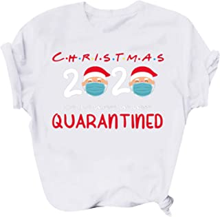 Womens Christmas Pullover Shirts 2020 Letter Print Casual...