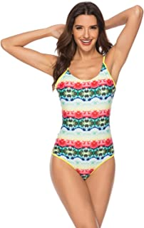 One-piece Swimsuit Women One Piece Swimsuit Strap Low Indorse Bathing Suit Sexy Swimwear (Color : White, Size : XL)