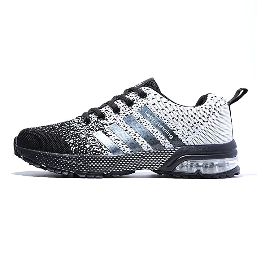 XIDISO Mens Womens Running Shoes Air Cushion Sneakers Lightweight Athletic Tennis Sport Shoe for Men