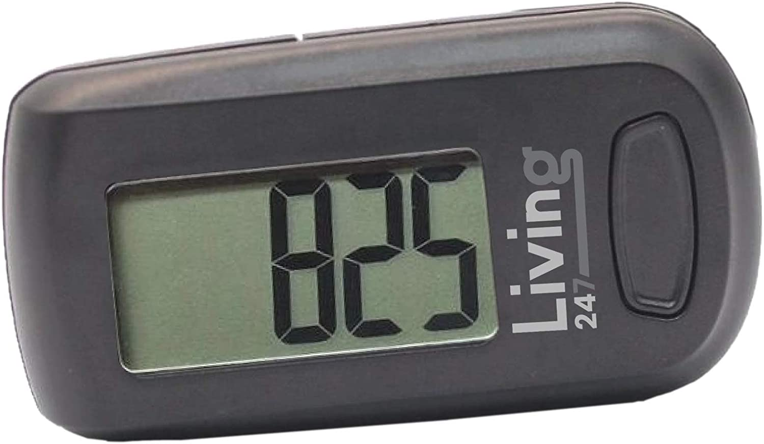 Living247 FitStep 3D Pedometer for Seniors, Easy to Use One Button Step Counter Step Tracker : Sports & Outdoors
