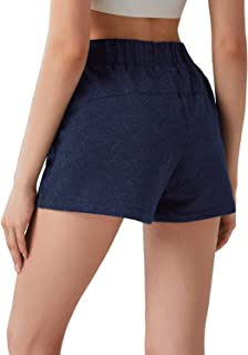 GGK Women's Activewear Lounge Shorts Gym Athletic Running Shorts Yoga Workout Cotton Shorts with Pockets