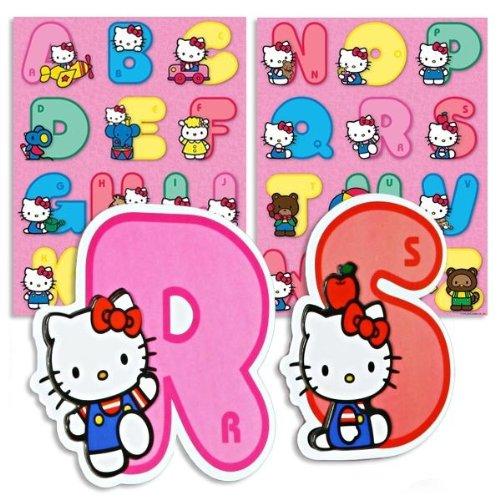 Partner Jouet - A1004079 - Ameublement et Décoration - Stickers Alphabet Hello Kitty
