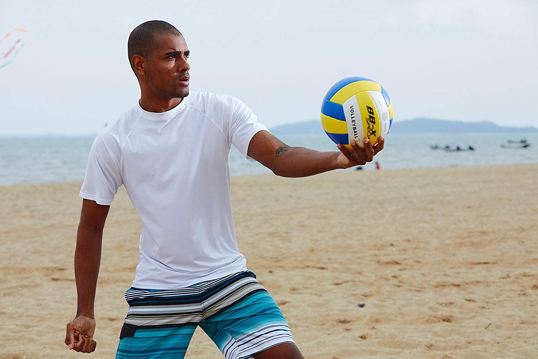 Satankud Men's UPF 50+ Rashguard Swim Tee Short Sleeve Running Shirt Swimwear Swim Hiking Workout Shirts