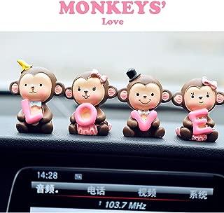 FULL WERK Creative Cute Monkeys Love Dashboard Decorations Car Home Office Ornaments Best Birthday (Monkeys' Love)
