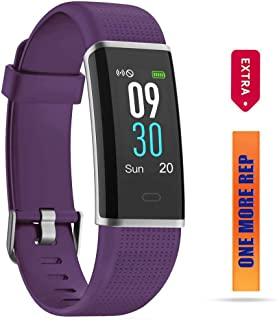 ZURURU Fitness Tracker HR, IP68 Waterproof Activity Tracker with Heart Rate Sleep Monitor, Fit Smart Watch with Pedometer Calorie Step Counter for Women Men Kids
