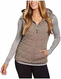 Blanc Noir Be by Womens Breathable Quilted Knit Hooded Vest