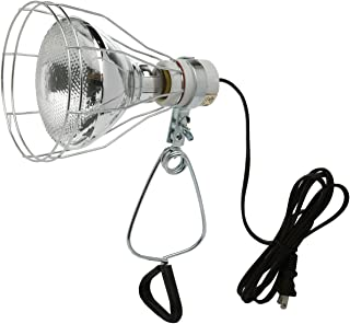 Woods 0324 18/2 Gauge Brooder and 150-Watt Heat Lamp with Wire Grill and Clamp, 6-Foot, Black