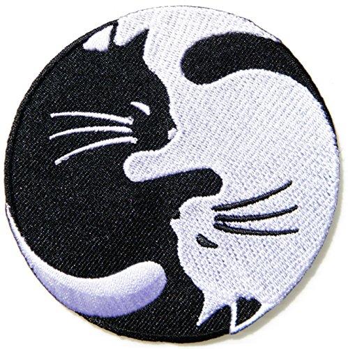 Cat Kitty Dragon Yin Yang Kung Fu Teak Wan Do Tatoo Logo Back Jacket T-shirt Patch Sew Iron on Embroidered Sign Badge Costum Gift