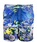 Zeybra - Costume da Bagno Made in Italy Uomo Coral Unico - Taglia S, M, L, XL, XXL, 3XL - Tessuto Resistente al Cloro, Acqua salata e con Protezione UV - Disegnato e Realizzato in Italia