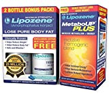 Lipozene Weight Loss Diet Pills with MetaboUp Plus Thermogenic Supplement - Appetite Suppressant