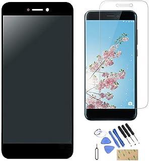 0987318fcdf Pantalla LCD Táctil Asamblea Repuesto Compatible con Huawei P8 Lite Versión  2017 Negro con Herramientas +