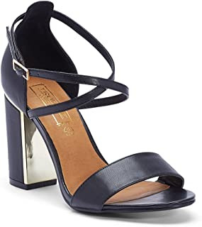 TRUFFLE COLLECTION Women's FALLON2 Black Synthetic Fashion Sandals