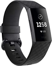Fitbit Charge 3 Fitness Activity Tracker, Graphite/Black, one Size (no fitbit Warranty Support), 0.06 Pound (Renewed)