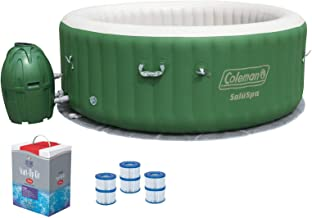 Coleman SaluSpa 6 Person Inflatable Outdoor Spa, Filters, Chlorine Starter Kit