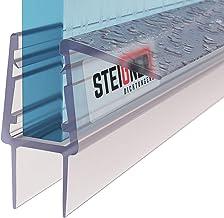 STEIGNER douchestrip, 60cm, glasdikte 12/13 mm, recht, pvc, vervangende afdichting voor douches, UK20-12