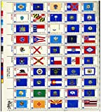 USPS 1976 State Flags - Full Sheet of 50 x 13 Cent Stamps - Scott 1633-82