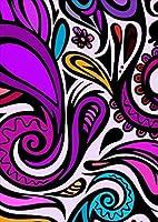 igsticker ポスター ウォールステッカー シール式ステッカー 飾り 841×1189㎜ A0 写真 フォト 壁 インテリア おしゃれ 剥がせる wall sticker poster 005439 クール 紫 模様