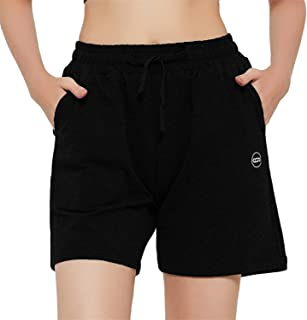 """Women's 5"""" Lounge Bermuda Shorts Workout Activewear Jogger Jersey Yoga Short with Pockets"""