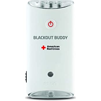 American Red Cross Blackout Buddy Swivel Emergency Flashlight, Blackout Alert & Night Light