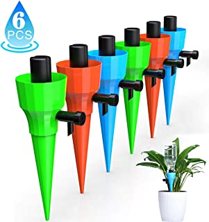 KakuFunny Self Watering Spikes,Universal Plant Watering Spikes with Slow Release Control Valve,Automatic Vacation Drip Irrigation Kit Watering Devices Plant Waterer for Outdoor Indoor Plants-6pcs