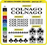 Adesivi Bici COLNAGO Kit Adesivi Stickers 27 Pezzi -Scegli SUBITO Colore- Bike Cycle pegatina cod.0092 (Nero cod. 070)