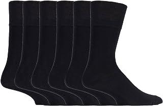 Sock Shop Gentle Grip - 6 Pairs Mens Loose Soft Top Non Elas