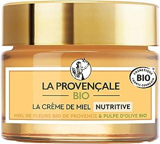 La Provençale Bio – Crème de Miel Nutritive – Miel de Fleurs Bio IGP Provence et Pulpe d'Olive Bio – Pour Tous Types de Pe...